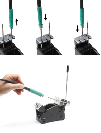 when soldering use cartridge extractor