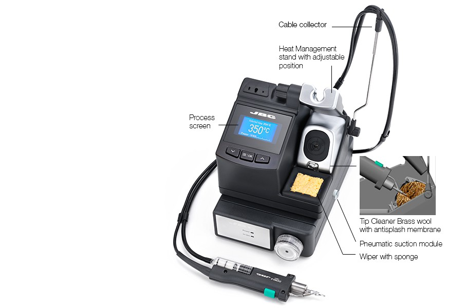 CV-2E - Desoldering station with Pneumatic Pump