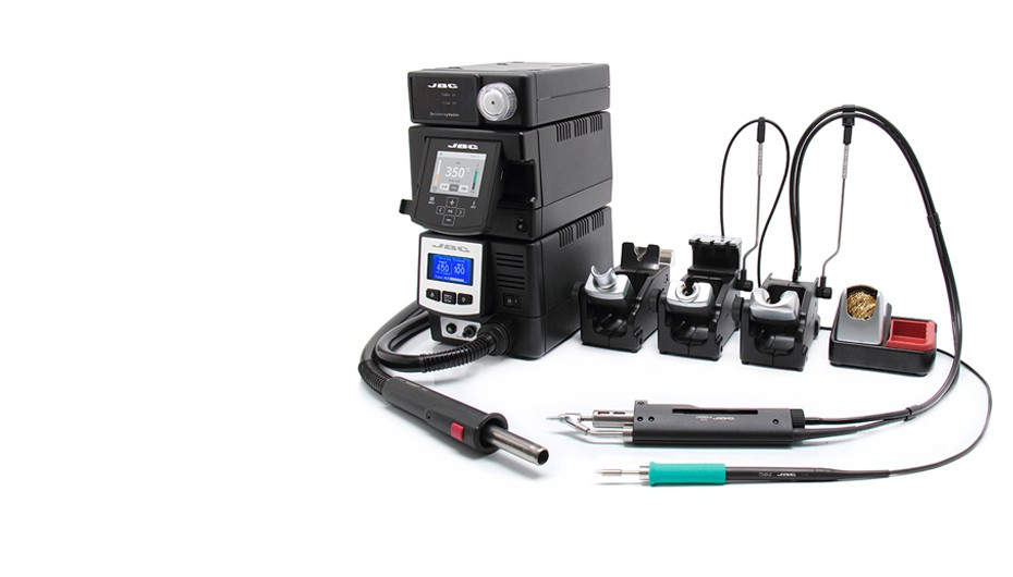 RMVE-2A - Complete Rework station with Pneumatic Pump