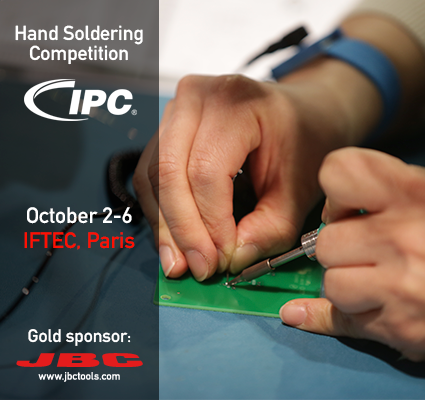 JBC is sponsoring the IPC Hand Soldering Competition in Paris