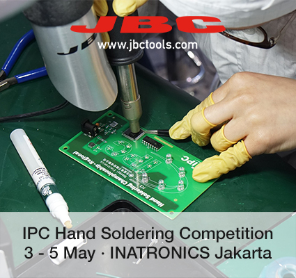 JBC is sponsoring the IPC Hand Soldering Competition in Indonesia