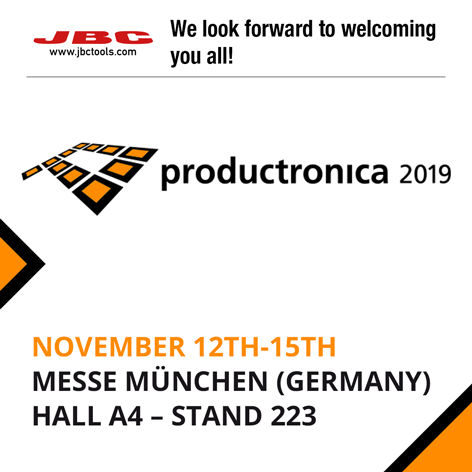 JBC, a leading manufacturer of soldering and rework equipment, is exhibiting at Productronica 2019