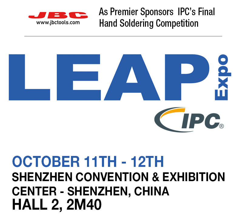 JBC Premier Sponsors the IPC Final Hand Soldering Competition at LEAP Expo