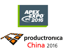 Visit us at the APEX EXPO & productronica China shows