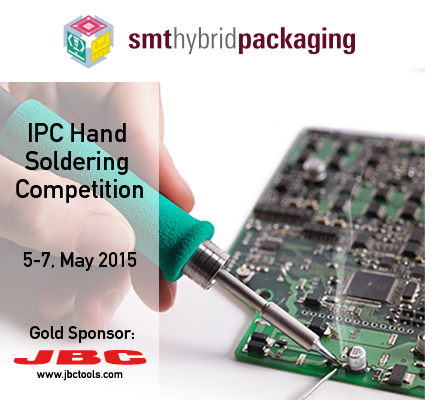 JBC is sponsoring the IPC Hand Soldering Competition at the SMT show (Nürnberg)