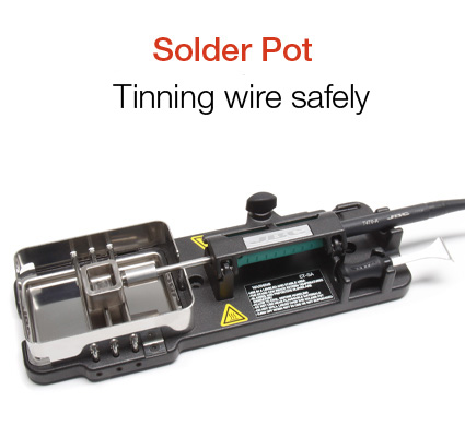 Tinning wires and components safely and quickly