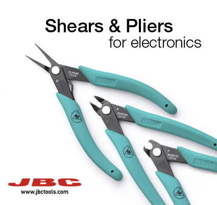 ESD shears and pliers for electronics