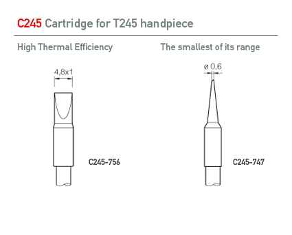 JBC expands the range of C245 cartridges