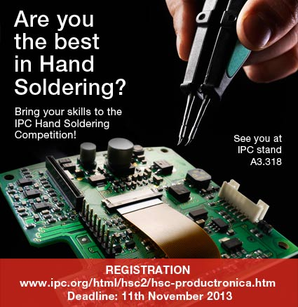 JBC is sponsoring the first IPC Hand Soldering Competition in Productronica 2013