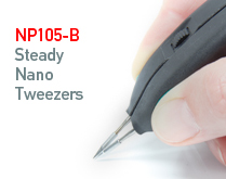 JBC presents the NP105-B Steady Nano Tweezers which enable a total alignment of the cartridges