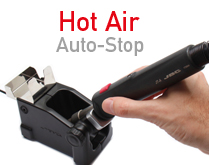 New Auto-stop function for safer Hot Air stations